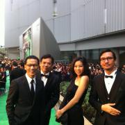 We are on the green carpet.